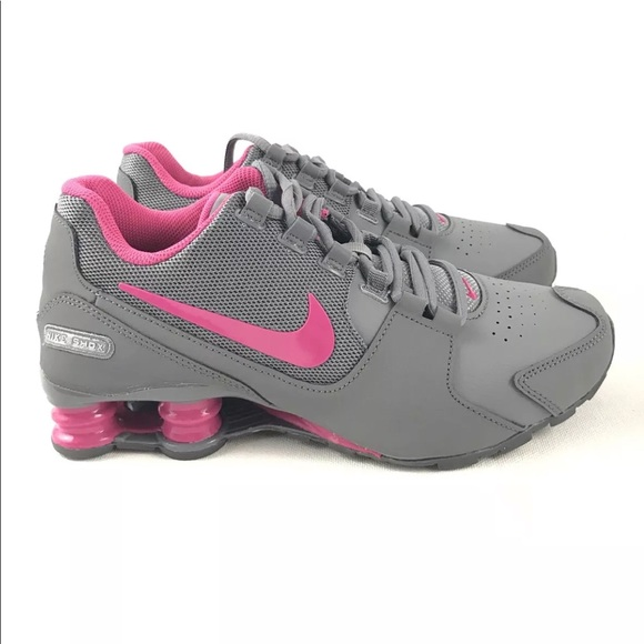 d51fd172bd5c Nike Shox GS Running Basketball Shoes Gray Pink